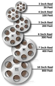 8mm film reel size chart