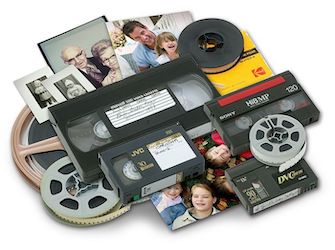 8mm film, video tapes
